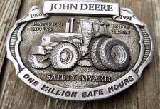 John Deere 4955 1990/91 1 Million Safe Hours Waterloo Works Belt Buckle RARE