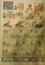 Mickey Mouse Sunday Page by Walt Disney from 8/8/1937 Tabloid Page Size