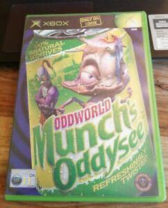 ORIGINAL XBOX GAME ODDWORLD MUNCH'S ADDYSEE WITH MANUAL NICE CONDITION RETRO