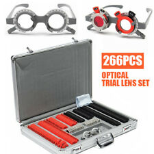 266x Metal Optometry Optical Trial Lens Set Trial Frame Aluminum Case Box