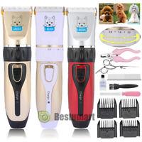 Professional Mute Set Pet Cat Dog Fur Hair Cordless Trimmer/Clipper/Shaver Kit