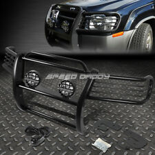 BLACK BRUSH GRILLE GUARD+ROUND CLEAR FOG LIGHT FOR 02-04 NISSAN XTERRA WD22 SUV