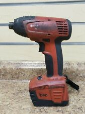"Hilti SID 144-A 14.4V Lithium-ion 1/4"" Hex Impact Driver Pre-owned Free Shipping"