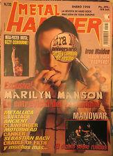METAL HAMMER:N.122-MARILYN MANSON-OZZY-IRON MAIDEN-RAMONES-MANOWAR-MOTORHEAD