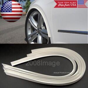"4 Pieces 47"" White Arch Wide Body Fender Flares Extension Lip For  Hyundai Kia"