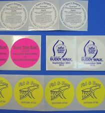Printed Round Stickers 500 Custom Labels 3 Circle Business Roll 1 Ink Color