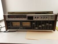Vintage Teac Cassette Deck Tape Player Recorder 450 with Dust Cover