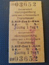 Eisenbahn Fahrkarte  1978  Getzersdorf - Traismauer