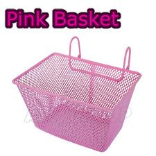 Pink Kids Metal Wire Cycling Basket Junior Bike Bicycle Girls Childrens