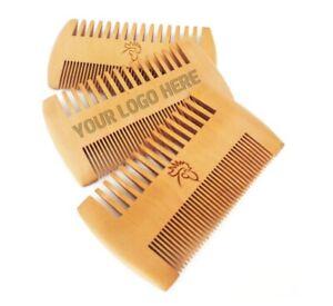 Custom LOGO-Fine&Coarse Teeth Double Sides Wood Comb Wooden Hair Comb Beard comb