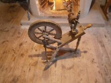 Antique Wooden Spinning Wheel Flax wheel Used Working Old Decor