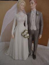"""TREASURED MEMORIES """"SPECIAL DAY"""" Wedding Cake Topper BRIDE & GROOM ENESCO Porc"""