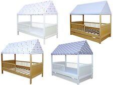 Kinderbett / Juniorbett Haus 140 x 70 cm mit Dach in verschiedenen Farben