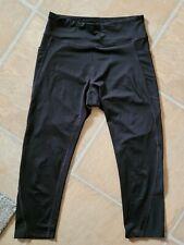 Tek Gear Dry Tek black Capri Pants Sz M phone pockets leggings exercise