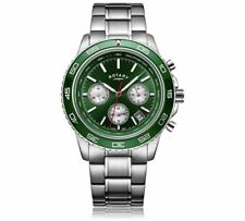 Rotary GB03067/24 Chronograph Henley Green Steel Dial Bracelet Watch RRP £250