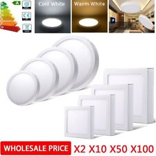 Surface Mounted Recessed LED Ceiling Light Flat Panel Lamp Lighting Fixture Lot