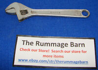 """vintage 8"""" ADJUSTABLE WRENCH --- unknown brand --- Forged"""