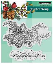 Merry Christmas Winter Pine Cling Style Unmounted Stamp PENNY BLACK 40-348 New