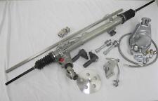 NEW Mustang II 2 Power Steering Rack w/ Pump & Bracket Hoses Pulley + Shaft Kit