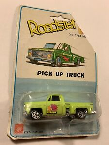 Vintage Hong Kong 1:64 Stepside Chevy Pick Up Apache green  Rustic 80s
