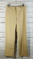 Gap Dress Pants Womens Sz 4 x 30 Tan Pinstripe Career Straight Leg Flat Spring