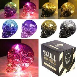 Skulls and Roses  Metallic Two Tone Skull Shaped LED