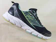 Mens FILA Athletic Shoes RN 91175 Size 9.5 Black/Green Running Shoes Sports