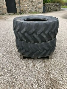 #B1178 Pair of Firestone 540/65R28 tractor tyres. 15% tread remaining. Delivery.