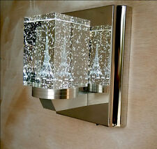 Modern Crystal Bubble Tower Wall Light Chandelier Lamp Ceiling Lighting 3W LED