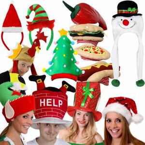 CHRISTMAS HATS NOVELTY XMAS OFFICE PARTY FESTIVE FANCY DRESS ACCESSORIES LOT
