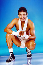 Alexis Arguello boxer bare chested sweaty in shorts moustache photo Poster
