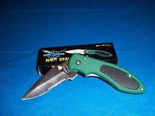 NAVY SEAL FOLDER WORKING KNIFE STAINLESS STEEL RUBBER