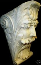 Mythical Gothic Green Man Bracket Leaf Face Wall Sconce