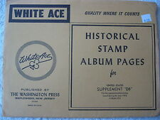 "1976 WHITE ACE STAMP ALBUM SUPPLEMENT "" DB "" USA COMMEMORATIVE BLOCKS OF 4"