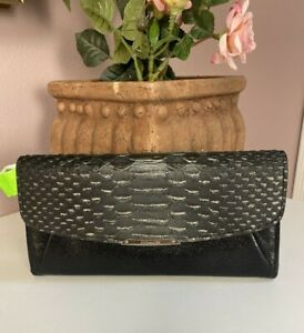 Coach Wallet Madison Embossed Patent Leather Slim Envelope Clutch Metallic W29