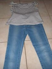 FOREVER NEW JEANS SIZE 8 PLUS TOP