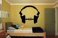 Wall Room Decor Art Vinyl Sticker Mural Decal Music EDM Headphones DJ FI078