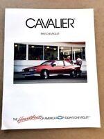1989 Chevrolet Cavalier and Z24 Original Car Sales Brochure Catalog  Convertible