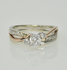 14k Yellow White Rose Gold 1/2Ctw Diamond Turi Colored Promise Right Hand Ring