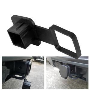 Trailer Hook Dust Plug Hitch Receiver Plug Cover Cap Dust Protector Truck Black