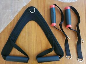 Bowflex Hand Grips Handle Pair AND Ab Crunch Strap NEW cable machine attachments