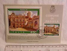 Cartolina Primo giorno di emissione Francobollo PADULA 19 maggio 1984 450 lire