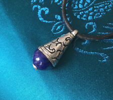 Pequeño Tibet. protección-amuleto con lapis lazuli + plata de Nepal