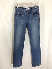 "Ann Taylor LOFT Modern Straight Jeans Sz 25/0 Denim Light Medium Wash Inseam 33"""