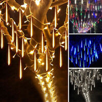 30/50CM LED Meteor Shower Lights Falling Rain Icicle Garden Hanging Decoration