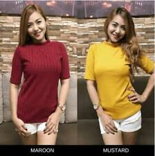 Belle Turtleneck Knitted Top (Mustard)