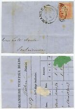 GB WALES 1857 SWANSEA SIDEWAYS DUPLEX on TURNPIKE TOLL ROAD PIECE GLAMORGANSHIRE