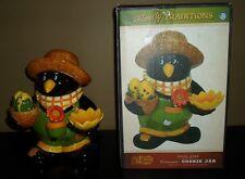 Cracker Barrel CROW Scarecrow Cookie Jar Salt Pepper Set & Server