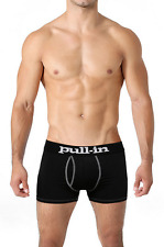 "Pull-in Shorty Logo Navy Boxer Briefs Made in Portugal CL104 ""Large"""