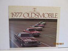 1977 Olds Cutlass 442 Omega Starfire NOS GM Dealership Sales Brochure 77
